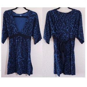 3 for $15 A.N.A Paisley Deep VNeck Tie Waist Dress